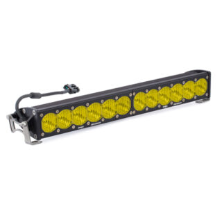 20 Inch LED Light Bar Single Amber Straight Wide Driving Combo Pattern OnX6 Baja Designs